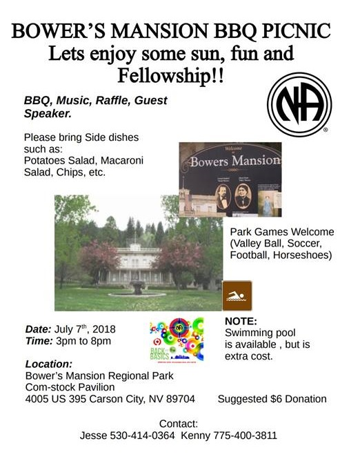 """SSRNA Convention Subcommittee """"BBQ Picnic"""" @ Bower's Mansion Regional Park - Comstock Pavillion 