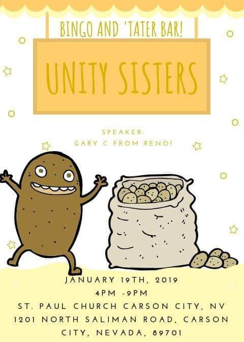 """The Unity Sisters """"Bingo and 'Tater Bar"""" @ St. Paul's Church 