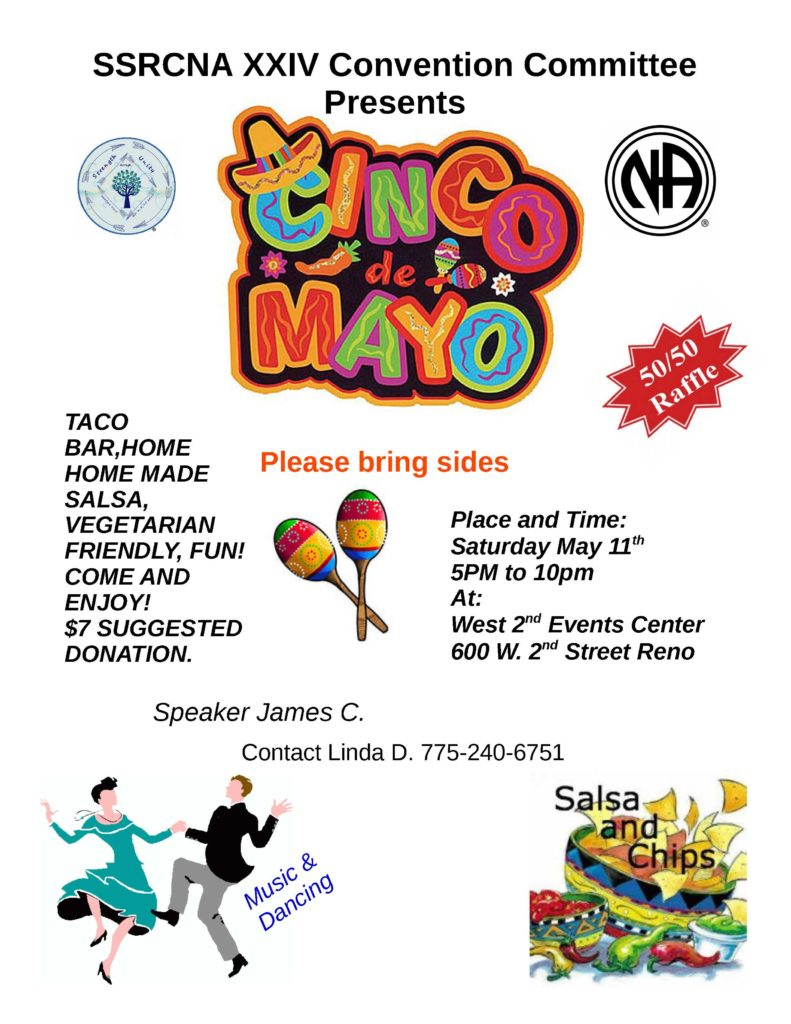 "SSRNA Convention Committee presents ""Cinco de Mayo"" @ West 2nd Events Center 