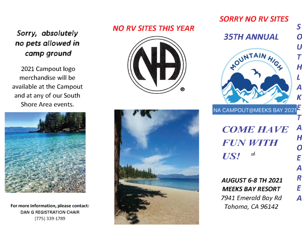"""SLT Area presents """"Mountain High Campout 2021"""" @ Meek's Bay Resort 